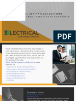Electrical Estimating Solutions, Providing Best Services in Australia