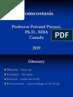Homeostasis of the Body - Prof. Pirouzi