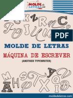 Moldes - Letras Maquinas de Escrever