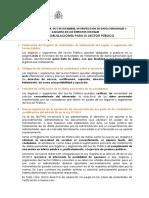 Novedades LOPD Sector Público