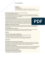 Economic Development Complete Notes