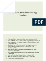 10 Brilliant Social Psychology Studies