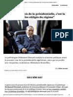 Algérie - à 4 mois de la présidentielle