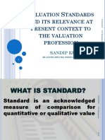 Valuation Standards   relevance to present context to  profession.pptx