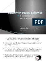 Consumer Involvement Theory