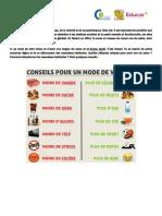 Fiche de Vocabulaire Dictionnaire Visuel Enseignement Communicatif Des 104795