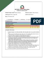 thuraya zakaria  - hct observation feedback form 1