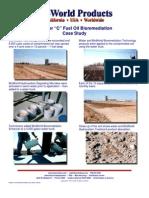 Bunker C Fuel Oil Bio Remediation Case Study - Photos