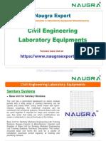 Civil Engineering Lab Instruments Manufacturer in India