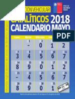 Calendario Restricción Mayo Junio Julio Agosto