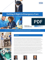 GIRFT Getting It Right in Emergency Care - August 2018