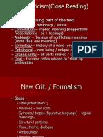 LIT Criticism Notes