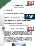Rendición de Cuentas Secretaría de Educación