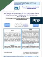 Patrones metodológicos en la investigación esp sobre evaluación de programas