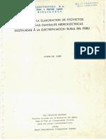 Guía Proyectos de Pequeñas Centrales Hidroeléctricas - Tsuguo Nozaki 1980