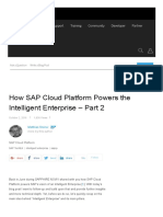 How SAP Cloud Platform Powers the Intelligent Enterprise – Part 2 _ SAP Blogs