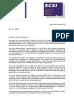 111-2018 D - Courrier Commun SCPN SCSI Au MI - Indemnitaire