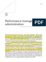 Performance Management Administration