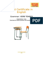 First Certificate in English. Grammar Verb Tenses