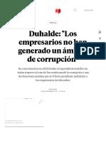 Duhalde_ _Los Empresarios No Han Generado Un Ámbito de Corrupción_ _ MDZ Online