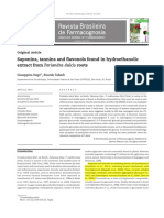 Saponins, Tannins and Flavonols Found in Hydroethanolic