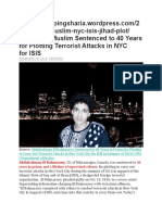 Islamic ISIS Jihadi 40 Year Sentence for NYC Terror Plan