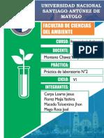 Bioensayo de toxicidad por metales pesados, hidrocarburos y pesticidas, en muestras de aguas, con semillas de Lactuca sativa