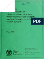 Guidelines for the Design of Water Storage Facilities, Water Distribution Systems, San and Storm Sewers