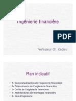 Ingénierie Financière. Professeur Ch. Cadiou