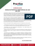 RESPALDO DE PROÉTICA AL EQUIPO ESPECIAL DEL CASO  LAVA JATO