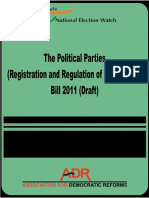 Bills on political parties