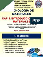 INTRODUCCION TECNOLOGIA DE MATERIALES