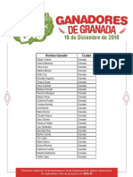 Listado de ganadores Granada