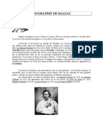 Biographie de Balzac