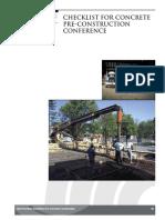 Concrete Placement Inspection Checklist