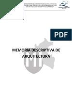 Memoria Descriptiva Arquitectura Pampachiri