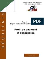 Profil de Pauvrete Et d Inegalite en 2014(1)