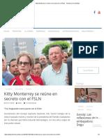 Kitty Monterrey Se Reúne en Secreto Con El FSLN - Trinchera de La Noticia
