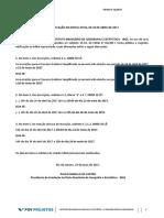 Prova de Agente TEMPORÁRIO 2017