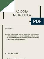 Acidoza Metabolica