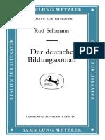 (Sammlung Metzler) Rolf Selbmann (Auth.)-Der Deutsche Bildungsroman-J.B. Metzler (1984)