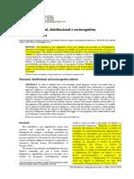 Saliencia Estrutural Distribucional e Sociocogniti