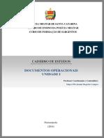 CADERNO de ESTUDOS - Documentos Operacionais