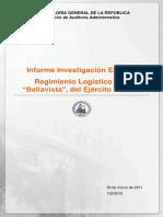 INFORME INVESTIGACIÓN ESPECIAL 102-10 REGIMIENTO LOGÍSTICO N°1 BELLAVISTA DEL EJÉRCITO DE CHILE-MARZO 2011