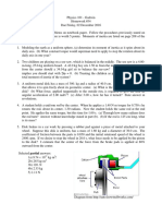Physics 101 - HW34