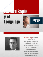 Edwar Sapir y el Lenguaje