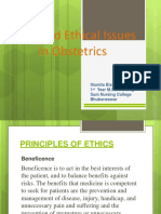 Medical and Ethical Issues in Nursing