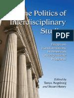 [Tanya Augsburg] the Politics of Interdisciplinary