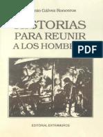 Antonio Galvez Ronceros - Historias Para Reunir a Los Hombres (1988)