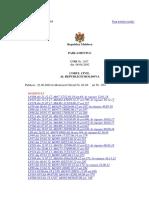 Codul Civil al Republicii Moldova, 21.01.2018